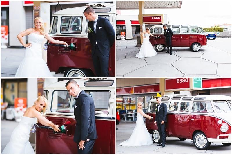 Hochzeit Tankstelle