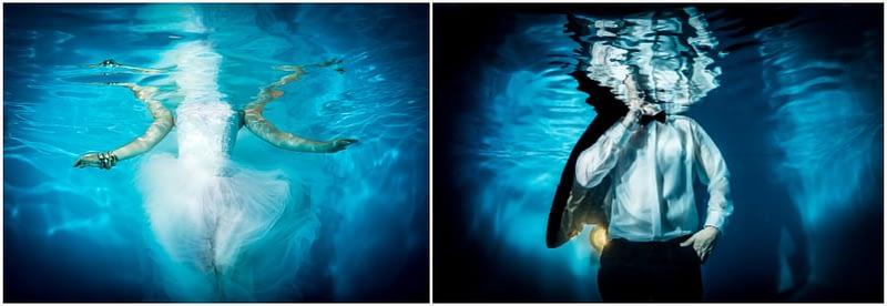 Braut und Bräutigam Unterwasser